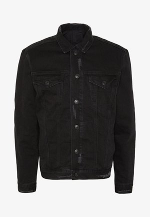BRIND JACKET - Denim jacket - washed black/black