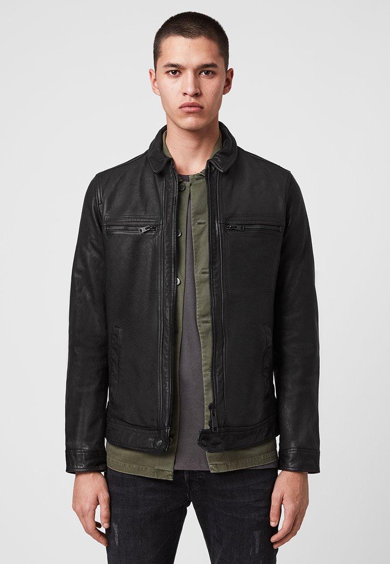 AllSaints - Leren jas - black