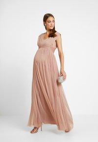 Anaya with love Maternity - GATHERED V FRONT MIDI DRESS - Occasion wear - pearl blush - 1