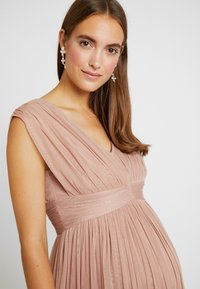 Anaya with love Maternity - GATHERED V FRONT MIDI DRESS - Occasion wear - pearl blush - 6