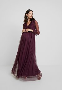Anaya with love Maternity - LACE BARDOT WITH LONG SLEEVES - Vestido de fiesta - burgundy - 2