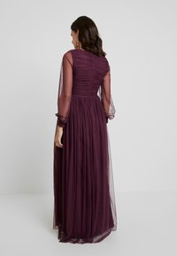 Anaya with love Maternity - LACE BARDOT WITH LONG SLEEVES - Vestido de fiesta - burgundy - 3