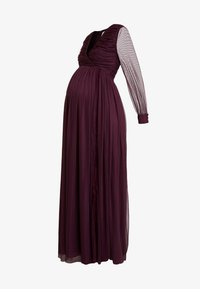 Anaya with love Maternity - LACE BARDOT WITH LONG SLEEVES - Vestido de fiesta - burgundy - 4