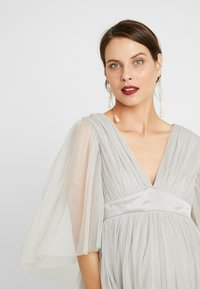 Anaya with love Maternity - CAPE SLEEVE WITH SATIN WAISTBAND - Occasion wear - silver - 4