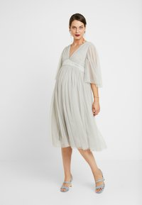 Anaya with love Maternity - CAPE SLEEVE WITH SATIN WAISTBAND - Occasion wear - silver - 0