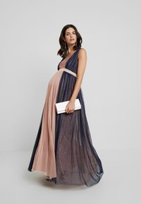 Anaya with love Maternity - CONRAST GATHERED MAXI DRESS WITH WAISTBAND - Vestido de fiesta - navy/pearl blush - 2