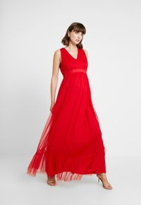 Anaya with love Maternity - V FRONT DRESS WITH BOW AND GATHERED - Abito da sera - poppy red - 2