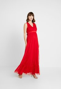 Anaya with love Maternity - V FRONT DRESS WITH BOW AND GATHERED - Abito da sera - poppy red - 0