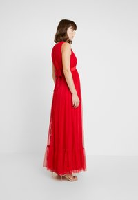 Anaya with love Maternity - V FRONT DRESS WITH BOW AND GATHERED - Abito da sera - poppy red - 3