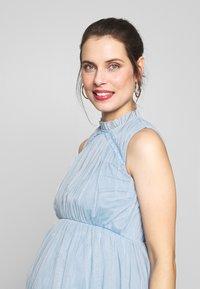 Anaya with love Maternity - HIGH NECK MAXI DRESS WITH TIERED SKIRT - Vestito estivo - cornflower blue - 3