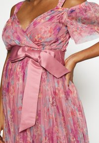 Anaya with love Maternity - PLEATED COLD SHOULDER MIDI DRESS WITH TIE BELT - Sukienka letnia - pink - 6