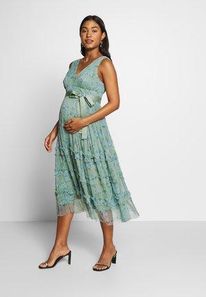 Sukienka koktajlowa - green floral