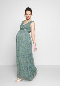 Anaya with love Maternity - SLEEVELESS V NECK MAXI DRESS - Vestito estivo - green - 0
