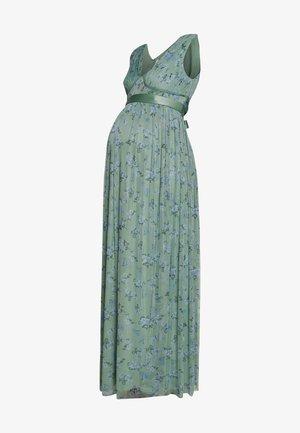 SLEEVELESS V NECK MAXI DRESS - Denní šaty - green