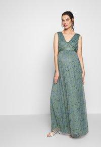 Anaya with love Maternity - SLEEVELESS V NECK MAXI DRESS - Vestito estivo - green - 1