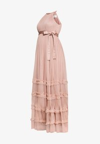 Anaya with love Maternity - HALTER NECK MAXI DRESS WITH RUFFLE DETAIL SKIRT - Iltapuku - pearl blush - 5