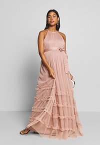 Anaya with love Maternity - HALTER NECK MAXI DRESS WITH RUFFLE DETAIL SKIRT - Iltapuku - pearl blush - 1