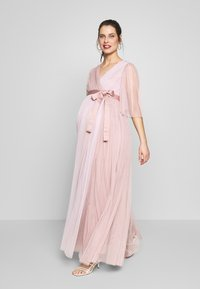 Anaya with love Maternity - WRAP CONTRAST MAXI WITH FLUTTER SLEEVES - Sukienka letnia - orchid ice/frosted pink - 0