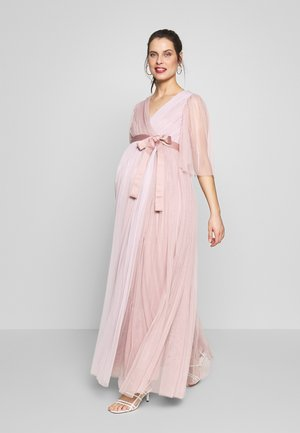 WRAP CONTRAST MAXI WITH FLUTTER SLEEVES - Vapaa-ajan mekko - orchid ice/frosted pink