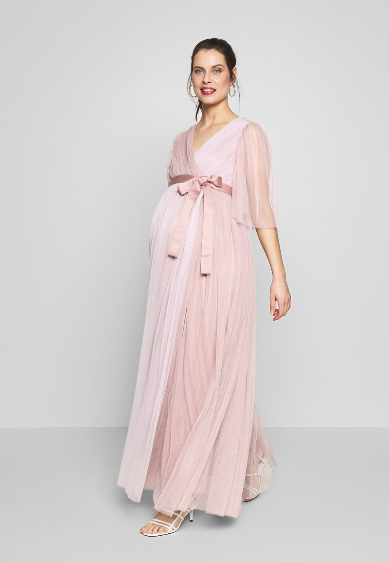 Anaya with love Maternity - WRAP CONTRAST MAXI WITH FLUTTER SLEEVES - Sukienka letnia - orchid ice/frosted pink