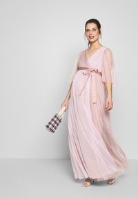 Anaya with love Maternity - WRAP CONTRAST MAXI WITH FLUTTER SLEEVES - Sukienka letnia - orchid ice/frosted pink - 1