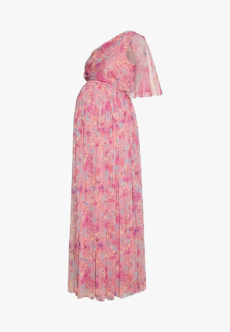 Anaya with love Maternity - ONE SHOULDER DRESS WITH FLUTTER SLEEVE - Sukienka letnia - pink