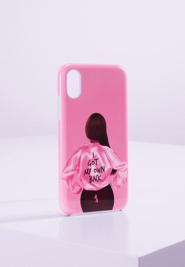 IPHONE X/XS - Telefoonhoesje - pink/black