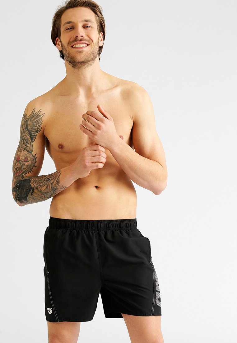 Arena - FUNDAMENTALS - Swimming shorts - black/white