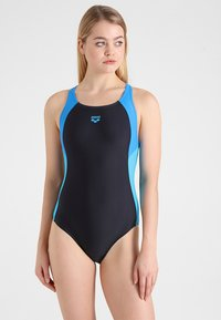 Arena - REN ONE PIECE - Plavky - black/pix blue/turquoise - 1