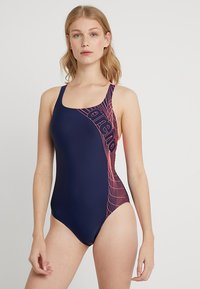Arena - ALTAIR SWIM PRO ONE PIECE SWIMSUIT - Plavky - navy/shiny pink - 0