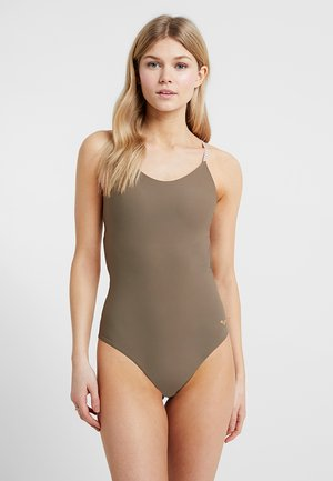 ONE PIECE TWIST BACK SWIMSUIT - Maillot de bain - army