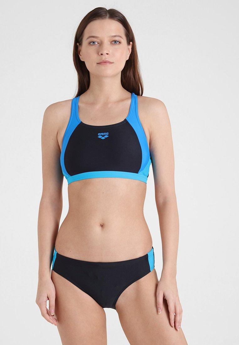 Arena - TWO PIECE SET - Bikini - black/pix blue/turquoise