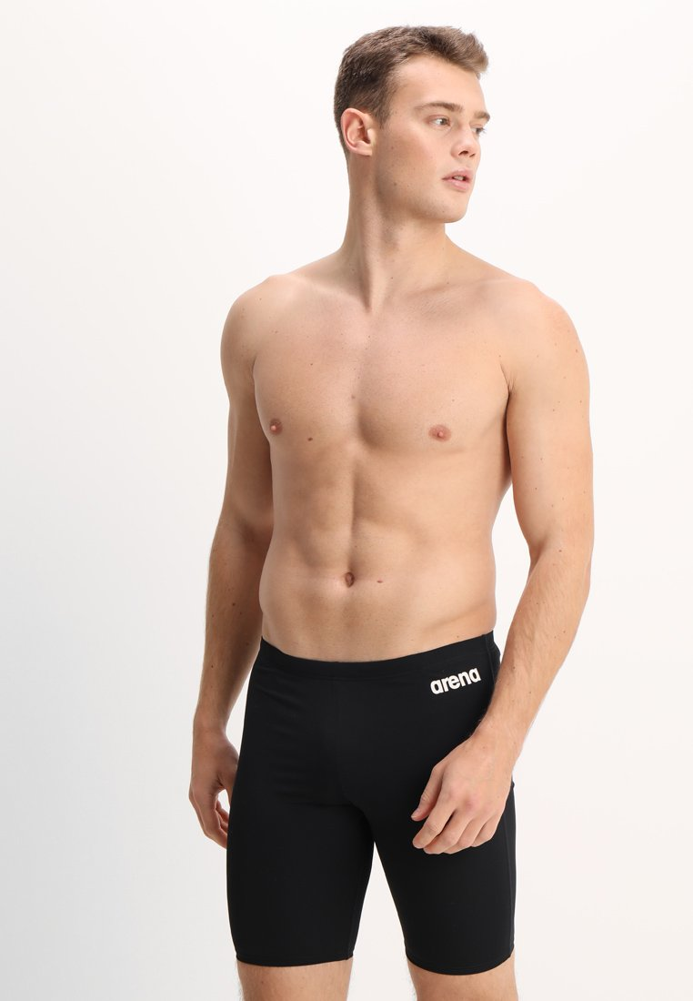 Arena - SOLID JAMMER - Swimming trunks - black/white