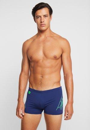 BAYRON - Swimming trunks - navy/shiny green