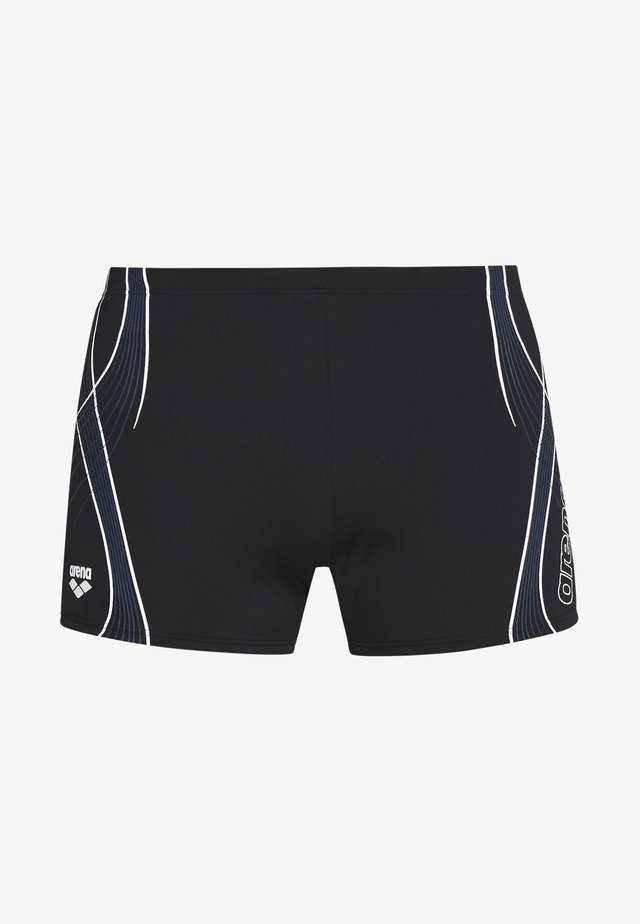 CROSSROAD SHORT - Badehose Pants - black/shark