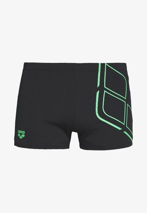 ESSENTIALS SHORT - Plavky - black/golf green