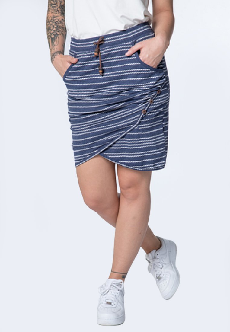 alife & kickin - LUCY  - Wrap skirt - marine