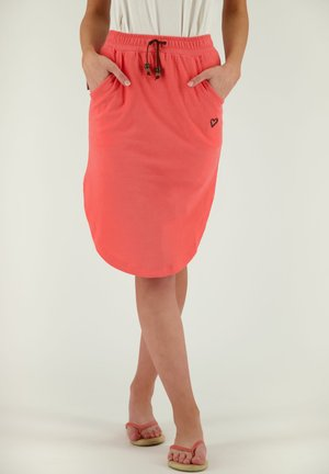 HOLLYAK  - A-line skirt - coral