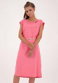 alife & kickin - ELLI LONGAK - Jersey dress - salmon - 0