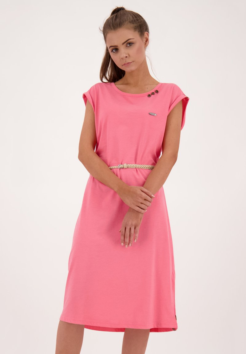 alife & kickin - ELLI LONGAK - Jersey dress - salmon