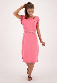 alife & kickin - ELLI LONGAK - Jersey dress - salmon - 1