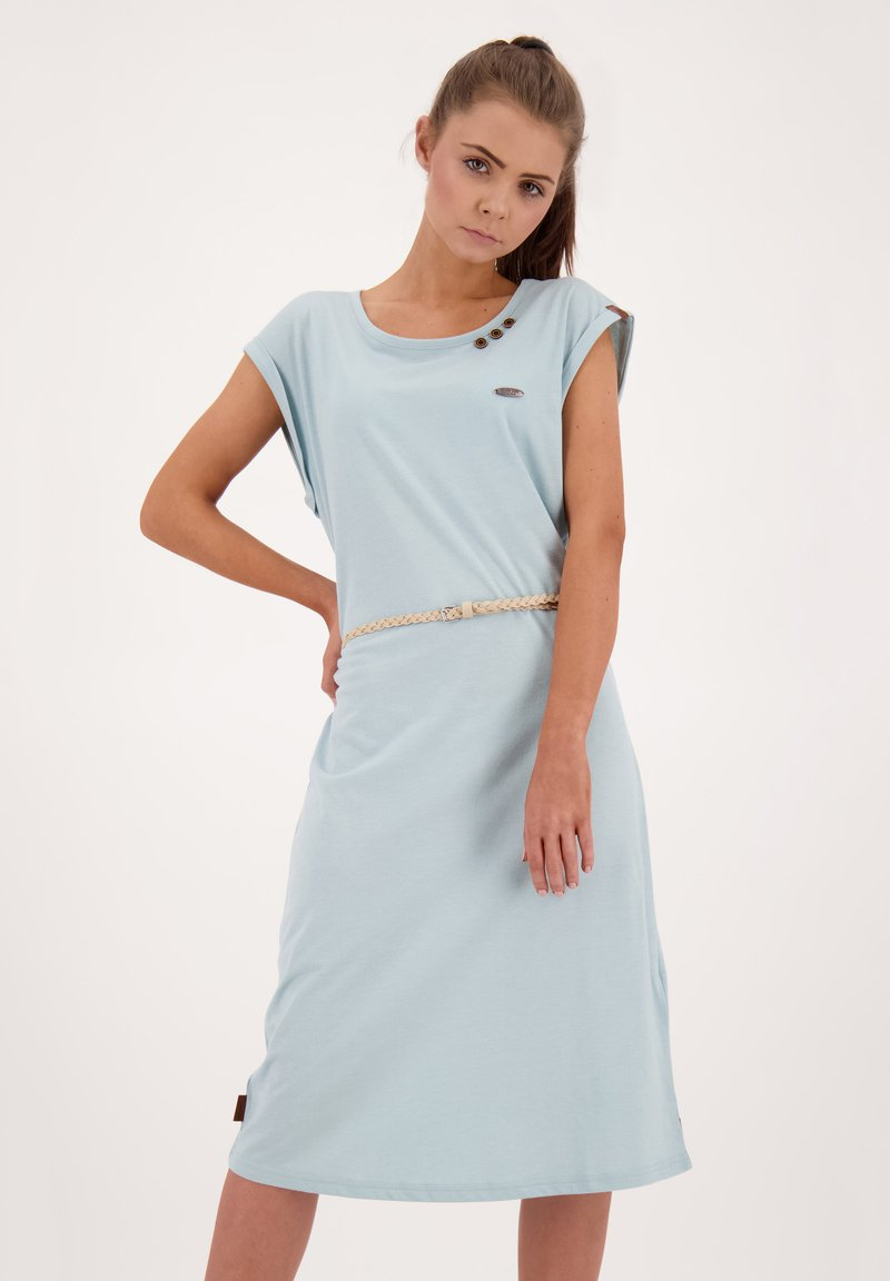 alife & kickin - ELLI LONGAK - Jersey dress - ice