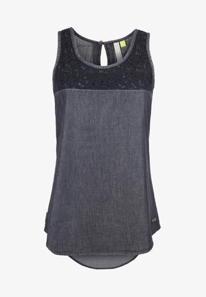 CARLA - Bluse - black denim