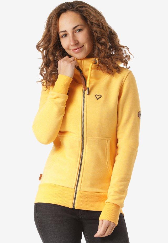 YASMIN  - Zip-up hoodie - yellow