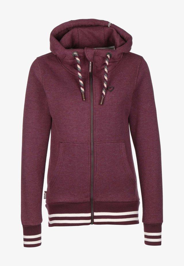 YASMIN - Zip-up hoodie - grape