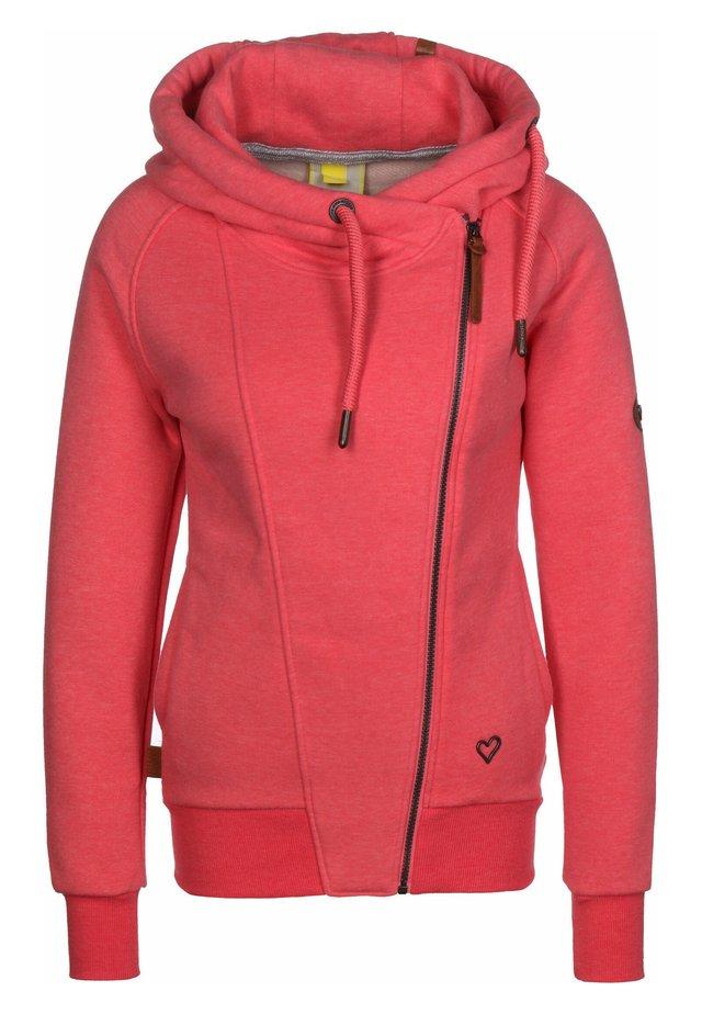 SNAKECHARMER - Zip-up hoodie - coral