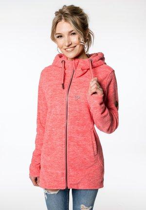 Fleece jacket - coral