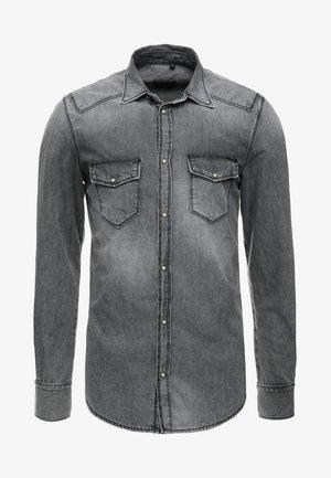 SLIM FIT - Camisa - nero