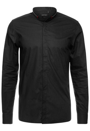 ZIP AROUND COLLAR - Camisa - black