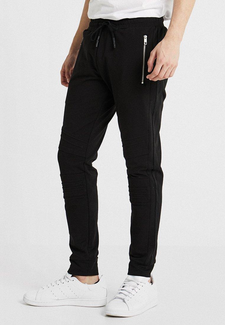 Antony Morato - PANT WITH ZIP AND BIKER DETAILS - Pantalon de survêtement - nero